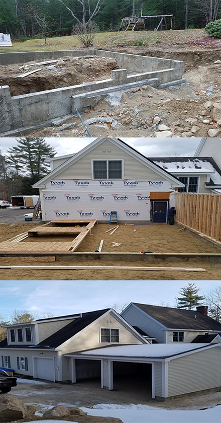 Pinehurst construction and remodeling service to include additions and home repairs in MA and NH