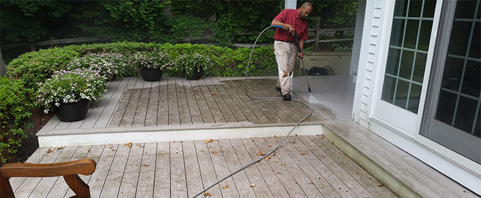 Weston deck cleaning, mold, mildew removal  power washing