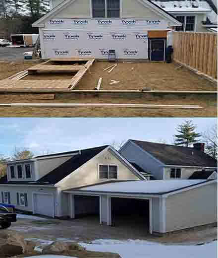 New construction, building and remodeling services in MA & NH
