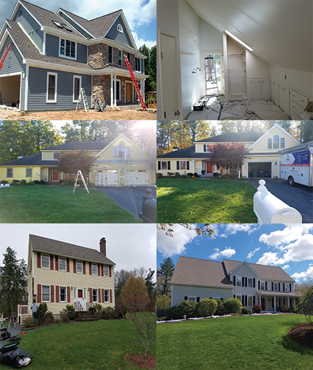 Burlington exterior and interior residential house painters painting in MA & NH
