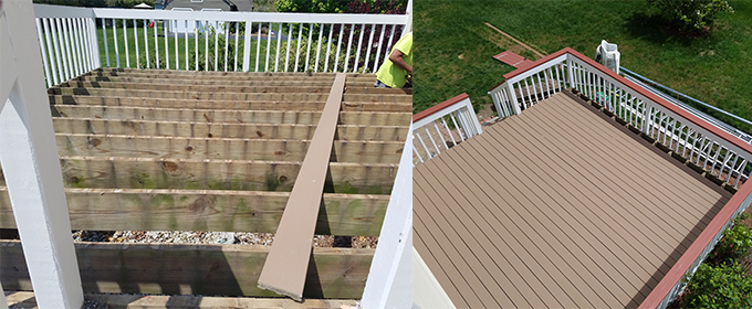Burlington Deck repairs restoration and deck building in MA & NH