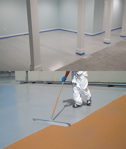 Burlington concrete epoxy floor painting and resin coatings